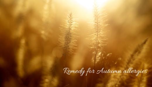秋のアレルギー到来?